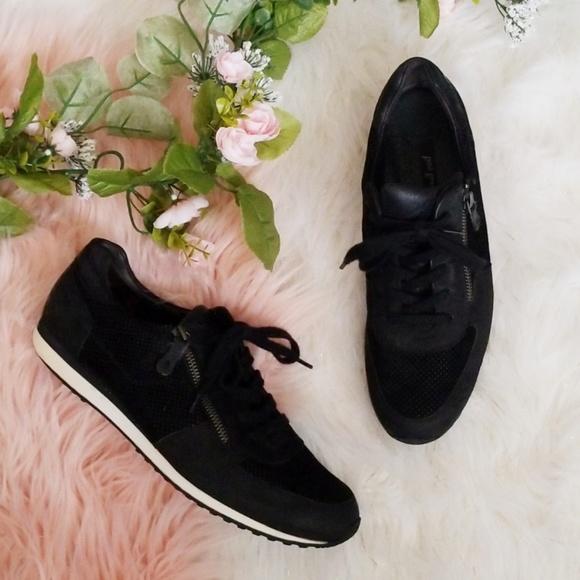 Black Leather Sneakers | Poshmark
